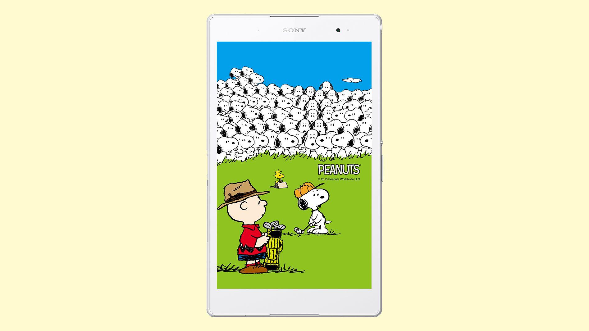 ストア限定 Xperia Tablet Snoopy 65th Anniversary Collectionが登場