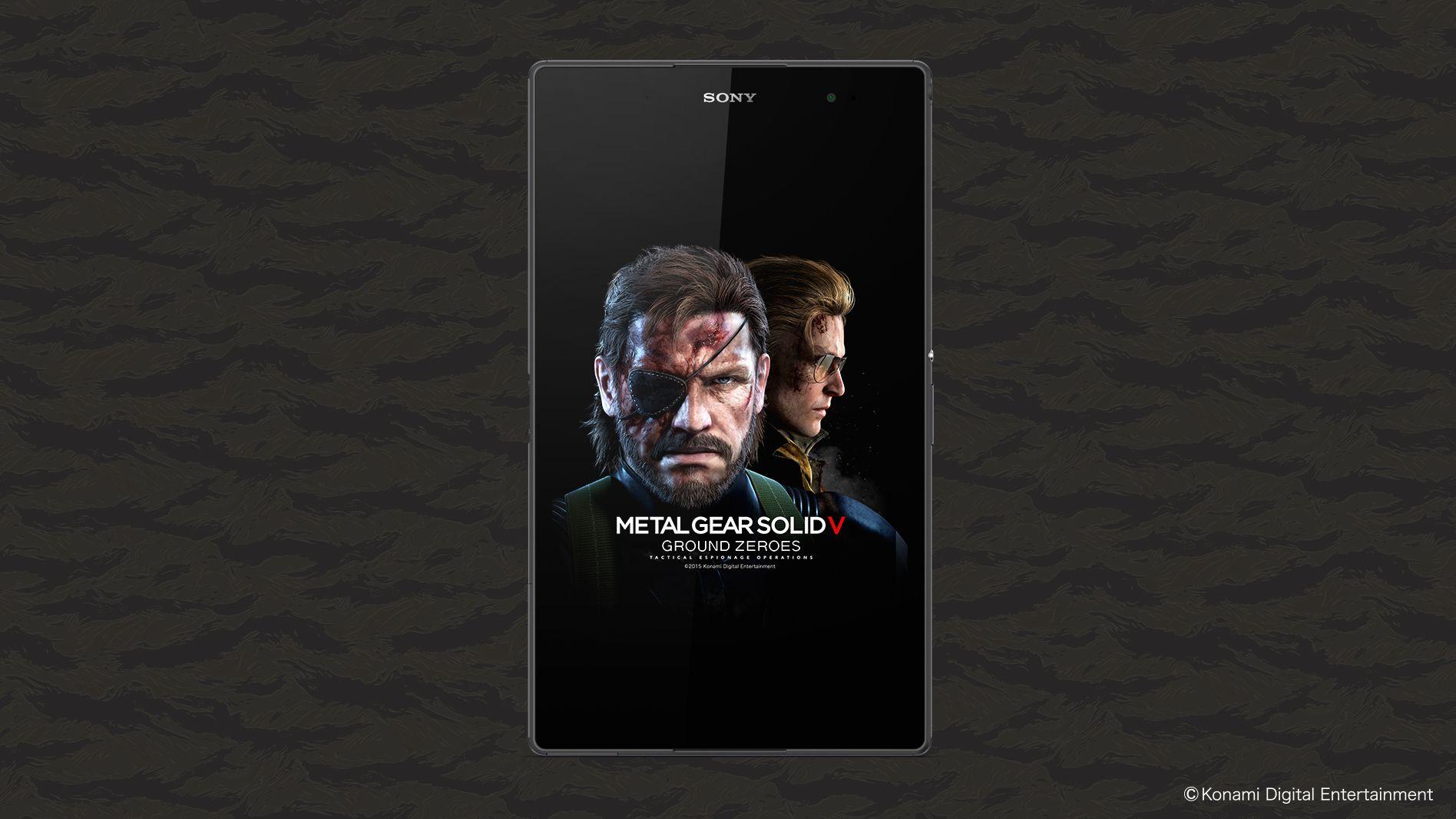 Metal Gear Solid V The Phantom Painとxperia Tabletのコラボモデル