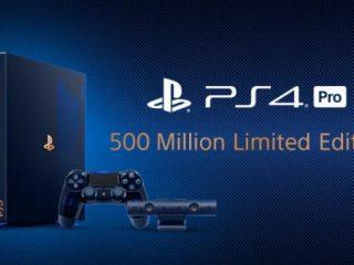 プレステシリーズ全世界5億台達成記念!「 PlayStation4 Pro 500 Million Limited Edition 」発表
