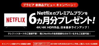 新商品対象キャンペーン| Netflixのプレミアムプランを6ヵ月分プレゼント!