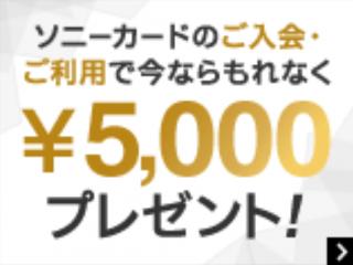 お知らせ|ソニーストア提携カードの「ソニーカード」ご入会・ご利用で5,000円もれなくプレゼント!
