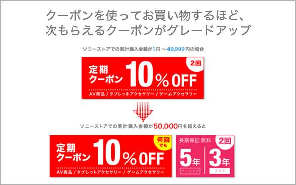 My Sony ID ご登録でAV10%OFF