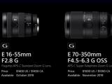 APS-C対応 ミラーレス一眼 カメラα の Gレンズ「SEL1655G」「SEL70350G」国内発表!