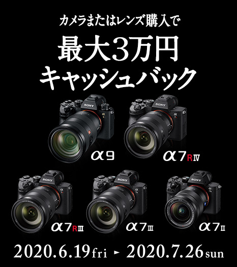 カメラグランプリ2020三冠受賞 α受賞記念キャンペーン