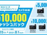 RXシリーズ キャッシュバックキャンペーン