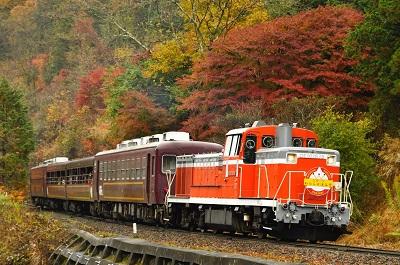山下大祐の写真講座 わたらせ渓谷鐵道と紅葉を撮る